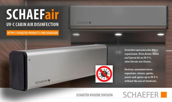 SCHAEFair - UV-C Kabinenluftreinigung